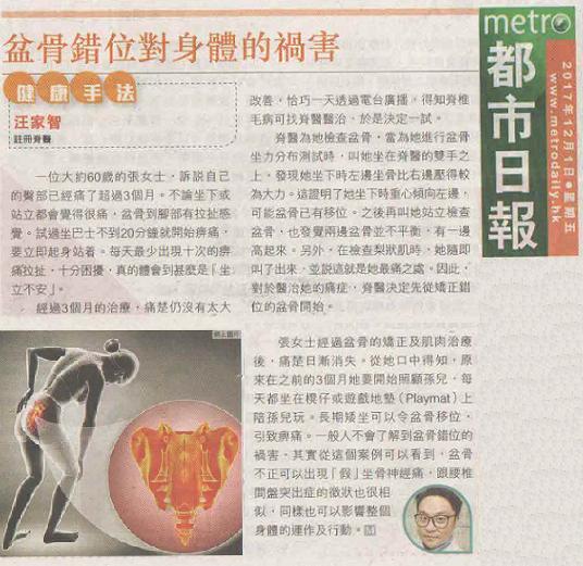 盆骨錯位對身體的禍害